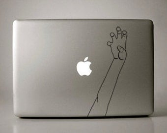 Put Your Paws Up Lady Gaga-Inspired Black Decal Macbook Laptop
