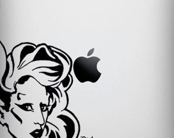 Born This Way -Version Two- Portrait Lady Gaga-Inspired Decal for iPad