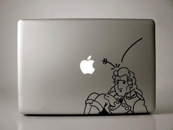 Isaac Newton Decal Macbook Laptop