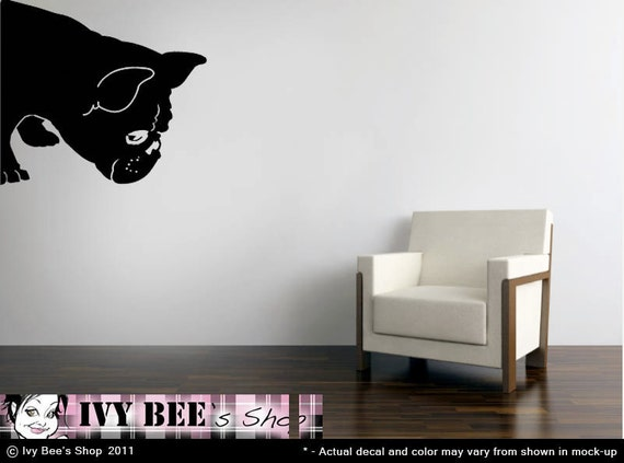 French Bulldog Sniff - Vinyl Wall Decal