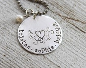 exclusive - LOVE GROWS HERE stamped necklace