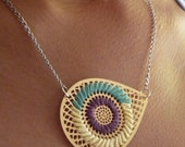 AI EMBROIDERED NECKLACE - PLUM