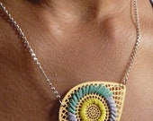AI EMBROIDERED NECKLACE - HELLO YELLOW