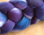 Hand Dyed Punta Wool Top in Wild Violets