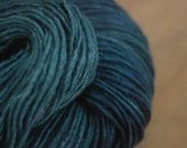 Kettle Dyed Worsted Wool Yarn in Sapphire--Extra Large Skein