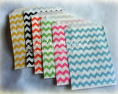 Middy  Bags- 20 bags You choose color(s)-  Chevron Stripe Bags