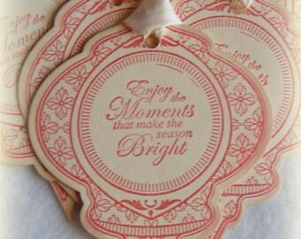 Vintage Christmas Ornament Tag