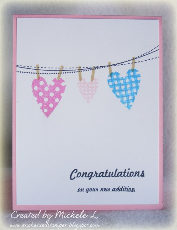 Congratulations on Your New Addition Baby Card (Customized for a boy or girl)