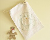 Twinkle Star Reusable Gift Bag with  Re purposed Vintage Linen on Etsy