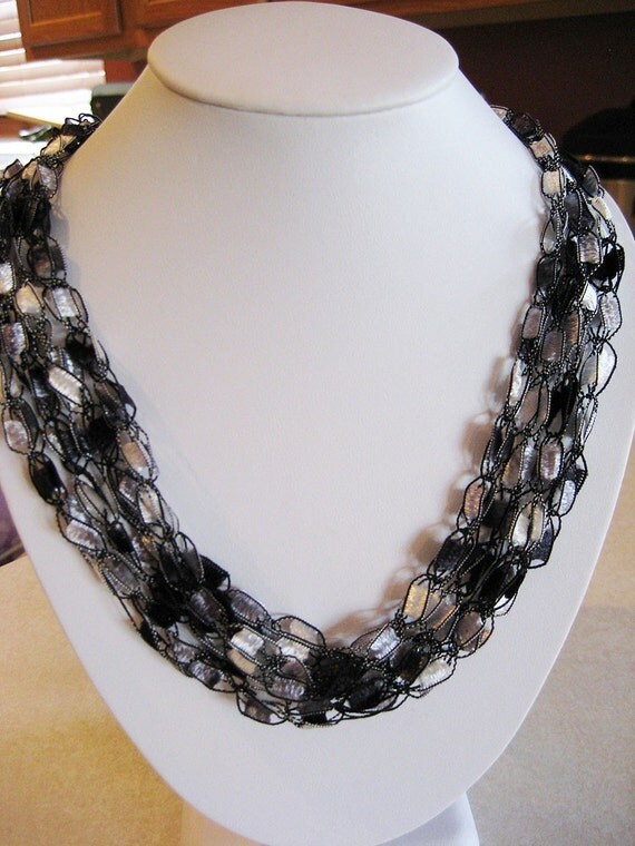 Items Similar To Crochet Ladder Ribbon Trellis Yarn