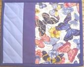 Butterflies and Flowers Mug Rugs - Set of 2