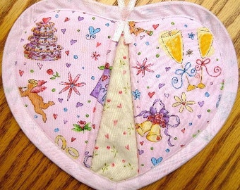 Just Married Potholders - Set of 2
