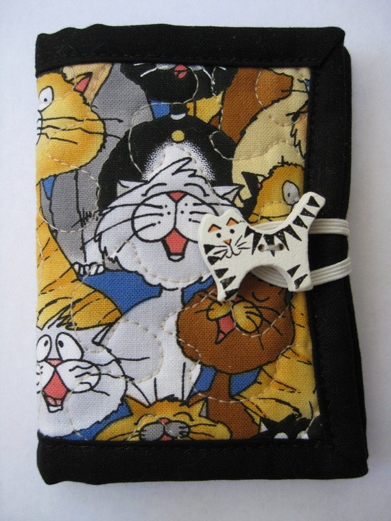 Needle Case Needle Book Handmade Cat Cotton Fabric Cat Fabric Sewing For Her Mom Gift Felt Fabric Friendship Gift Sewing Kit Wood Button