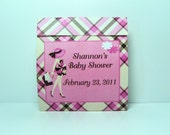 25- Mod Mom Baby Shower Tealight Candle Favor- Pink