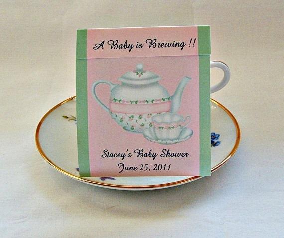 baby shower teabag favors great for bridal shower or tea