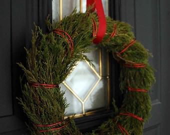 Wild red cedar wreath