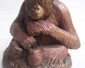 """Orangutan sculpture """"Little Thinker"""""""