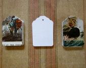 50 Vintage Currier & Ives Ephemera Gift Tags