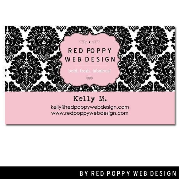 Premade Business Cards Digital Print At Home By Redpoppywebdesign