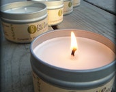 ON SALE Soy Candle - Coriander & Peppermint in 4 Oz. Travel Tin Eco Friendly