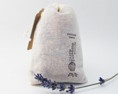 Certified Pure Essential Oil Aromatherapy Lavender Sachet in U.S.A Made Muslin Bag and Kraft Gift Bag