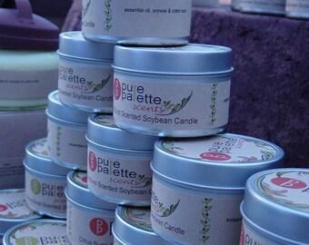 ON SALE Citrus Burst Scent Vegan Aromatherapy Pure Natural Soybean Candle Premium Fragrance Eco Friendly