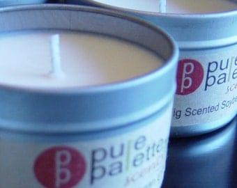 Soy Candle - Fig Premium Fragrancein  4 oz. Travel Tin