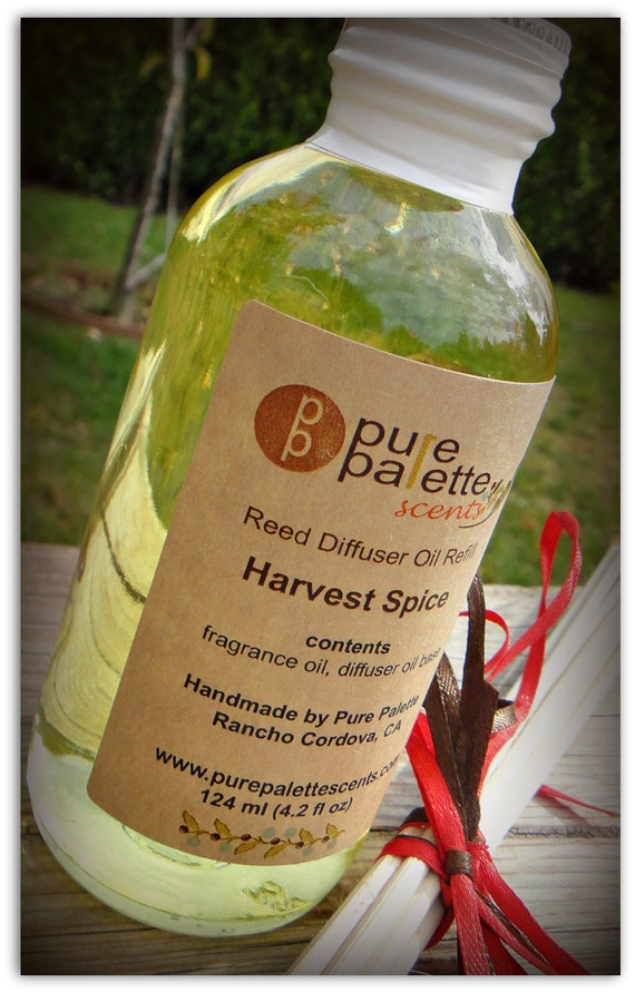 SALE: Diffuser Refill Harvest Spice Scent with Natural Undyed Reeds