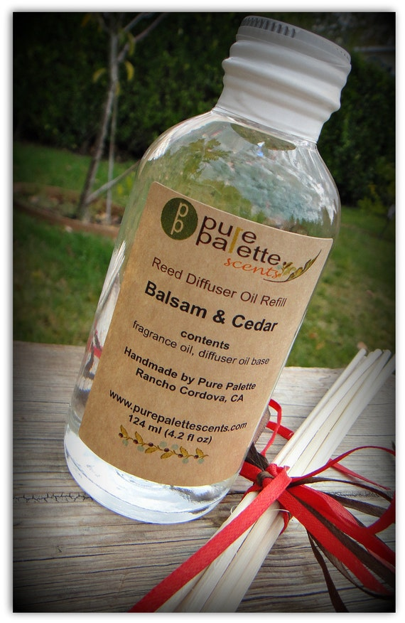 S A L E Diffuser Refill Set Alcohol Free Balsam and Cedar Scent Vegan Premium Fragrance Eco Friendly