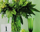 As seen in Brides Magazine - Wedding Reception Printable Table Number Cards 1 to 12   and Place Setting Cards in Purple