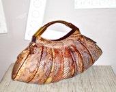 CAPRICE Vintage Handbag Clutch Multi-Color Snakeskin Handbag - AUTHENTIC -