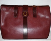 Reserved....................Authentic VINTAGE GUCCI Slouchy Soft Burgundy Pebbled Leather Extra Large Tote