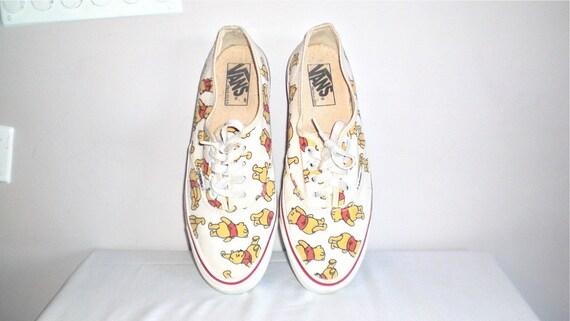 Winnie The Pooh 80s Vintage Vans Sneakers Tennis Shoes Punk