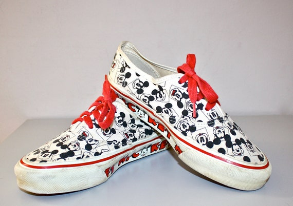 Mickey Mouse Vintage Vans Sneakers Punk New Wave By