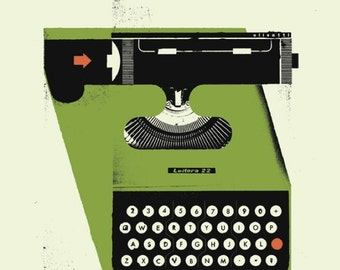 "HOLIDAY SALE! 1950's Olivetti Typewriter Poster 12"" x 16"""