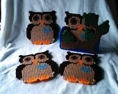 Owl In A Tree Coaster Set