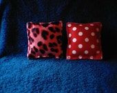 Set of 2 Red Catnip Pillow Toys