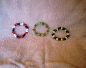 Patriotic, Christmas Kids Bracelet Set