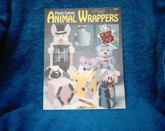 Vintage Animal Wrappers Plastic Canvas Book