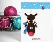 Reindeer Splat Holiday Card