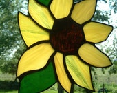 Stained Glass Yellow Sunflower Sun Catcher
