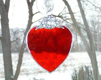 Single Cupid Heart Suncatcher