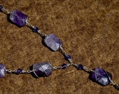 Silver-Wrapped Amethyst Necklace