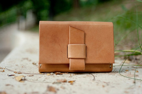Handmade leather card holder - made to order