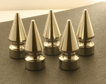 5 sets.Silver Tone Cone Spikes Screwback Studs Leathercraft Decorations Findings. M5