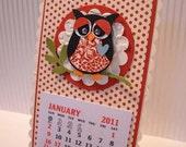 Magnetic Owl Calendar
