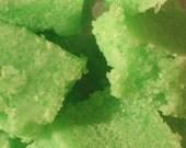 Lime and Cane Sugar Scrub Cubes 100% Natural Organic Fair Trade