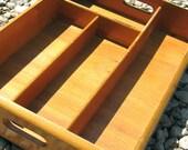 Wood Silverware Box