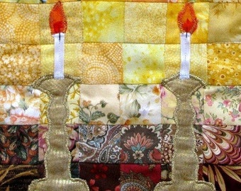 Watercolor Quilted Table Center Piece Challah Cover