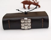 Small black book - unisex, for her, him - with white and black pages